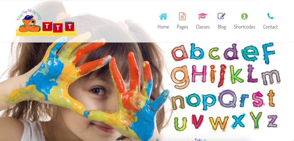 Website design and creation for Treforys Tiny Tots day nursery by G Marketing Solutions Swansea