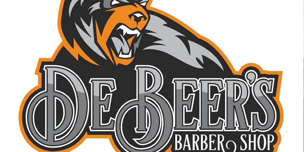 De Beer's barber shop logo