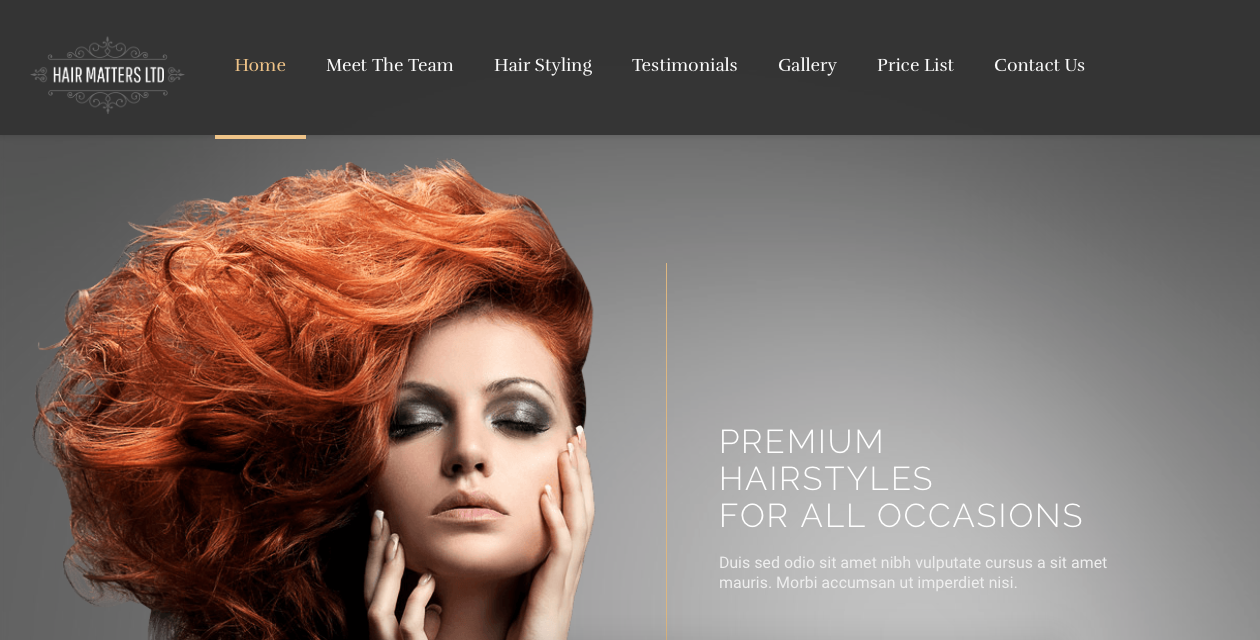 Web design in Swansea with G Marketing Solutions for Hair Matters Swansea